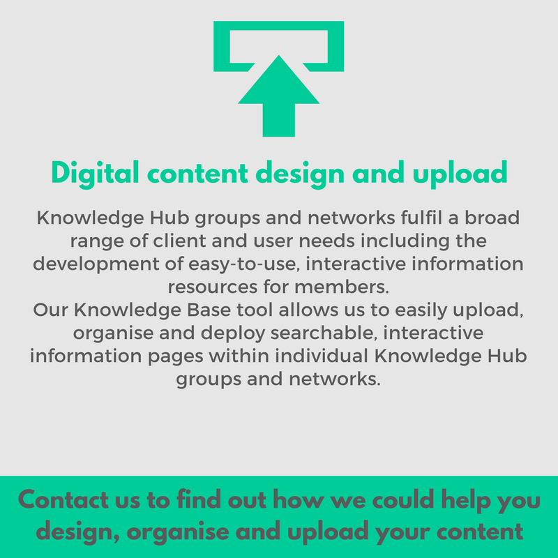 digital content design and upload use our knowledge base tool to develop an easy to use resource