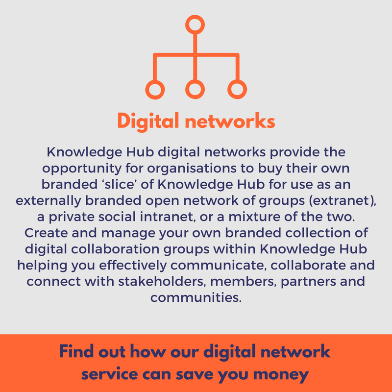 digital networks enable you to have your own branded slice of knowledge hub